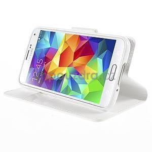 Elegantní peněženkové pouzdro na Samsung Galaxy S5 - bílé - 5