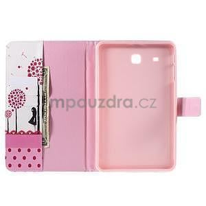 Ochranné koženkové pouzdro na Samsung Galaxy Tab E 9.6 - dívka & pamepelišky - 5