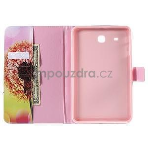 Ochranné koženkové pouzdro na Samsung Galaxy Tab E 9.6 - oranžová pamepelišky - 5
