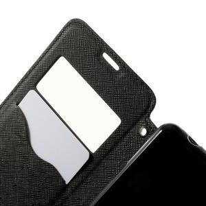 Peněženkové pouzdro s okýnkem na Sony Xperia E3 - černé - 5