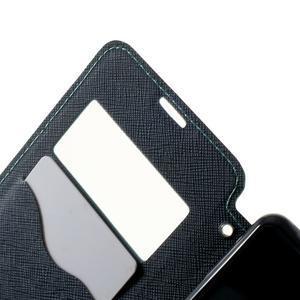 Peněženkové pouzdro s okýnkem na Sony Xperia E3 - světlemodré - 5