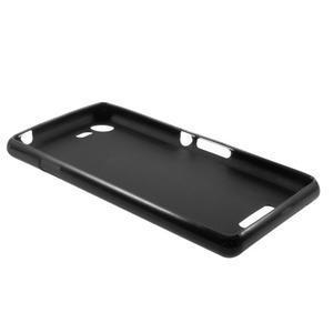 Matný gelový obal na mobil Sony Xperia E3 - černý - 5