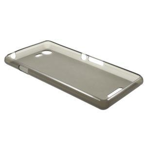 Matný gelový obal na mobil Sony Xperia E3 - šedý - 5