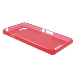 Matný gelový obal na mobil Sony Xperia E3 - červený - 5