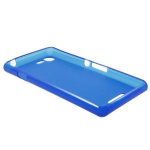Matný gelový obal na mobil Sony Xperia E3 - modrý - 5