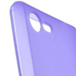 Matný gelový obal na mobil Sony Xperia E3 - fialový - 5