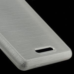 Brushed gelový obal na mobil Sony Xperia E3 - bílý - 5