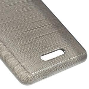 Brushed gelový obal na mobil Sony Xperia E3 - šedý - 5