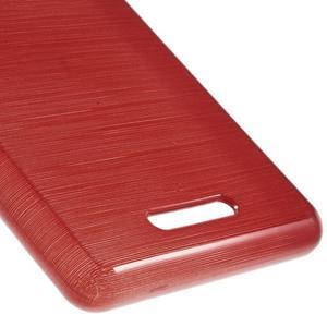 Brushed gelový obal na mobil Sony Xperia E3 - červený - 5