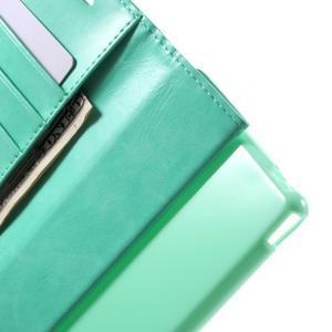 Moon PU kožené pouzdro na mobil Sony Xperia M4 Aqua - azurové - 5