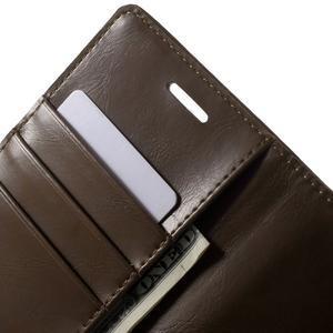 Moon PU kožené pouzdro na mobil Sony Xperia M4 Aqua - hnědé - 5