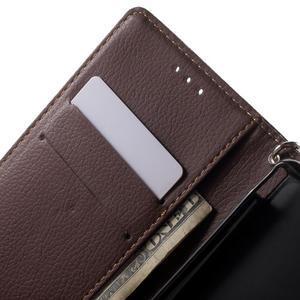 Leaf PU kožené pouzdro na mobil Sony Xperia M4 Aqua - černé - 5