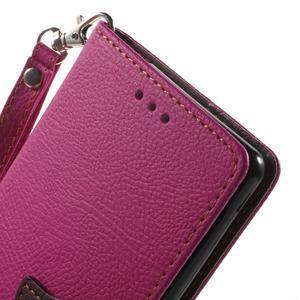 Leaf PU kožené pouzdro na mobil Sony Xperia M4 Aqua - rose - 5