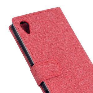 Texture pouzdro na mobil Sony Xperia X - červené - 5