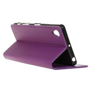 Grain koženkové pouzdro na Sony Xperia X - fialové - 5