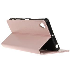 Horse PU kožené pouzdro na Sony Xperia X - růžové - 5