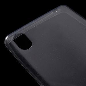Ultratenký 0.5 mm gelový obal na Sony Xperia X - šedý - 5