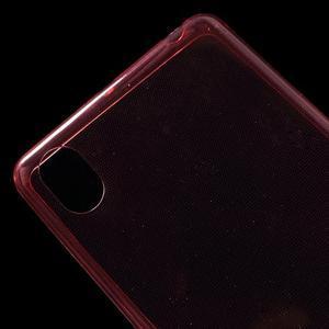 Ultratenký 0.5 mm gelový obal na Sony Xperia X - červený - 5