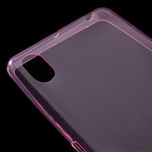 Ultratenký 0.5 mm gelový obal na Sony Xperia X - rose - 5