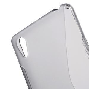 S-line gelový obal na Sony Xperia X - šedý - 5
