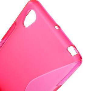 S-line gelový obal na Sony Xperia X - rose - 5
