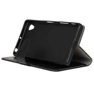 Knížkové PU kožené pouzdro na Sony Xperia X - černé - 5