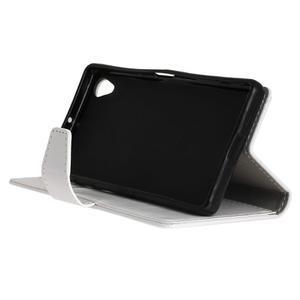 Knížkové PU kožené pouzdro na Sony Xperia X - bílé - 5