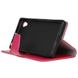 Knížkové PU kožené pouzdro na Sony Xperia X - rose - 5
