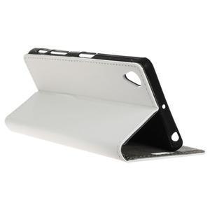 Walle peěnženkové pouzdro na Sony Xperia X - bílé - 5
