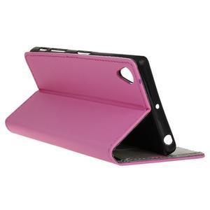 Walle peěnženkové pouzdro na Sony Xperia X - růžové - 5