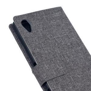 Texture pouzdro na mobil Sony Xperia X - šedé - 5