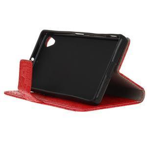 Cartoo peněženkové pouzdro na Sony Xperia X - červené - 5