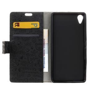 Cartoo pěněženkové pouzdro na Sony Xperia X Performance - černé - 5