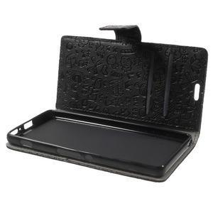 Cartoo peněženkové pouzdro na mobil Sony Xperia XA - černé - 5
