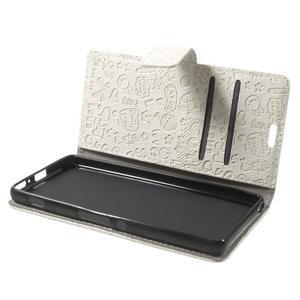 Cartoo peněženkové pouzdro na mobil Sony Xperia XA - bílé - 5