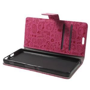 Cartoo peněženkové pouzdro na mobil Sony Xperia XA - rose - 5