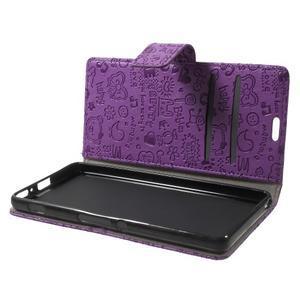 Cartoo peněženkové pouzdro na mobil Sony Xperia XA - fialové - 5