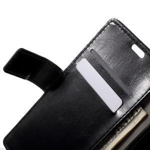 Horse PU kožené pouzdro na mobil Sony Xperia XA - černé - 5