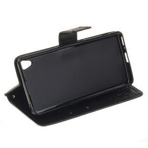Dandely PU kožené pouzdro na mobil Sony Xperia XA - černé - 5