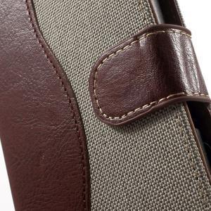 Jeansy PU kožené/textilní pouzdro na Sony Xperia XA - šedé - 5