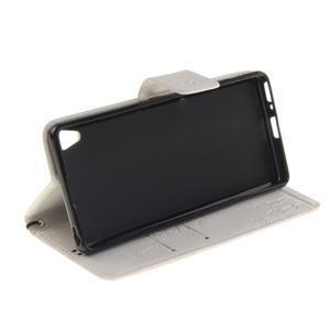 Dandely PU kožené pouzdro na mobil Sony Xperia XA - bílé - 5