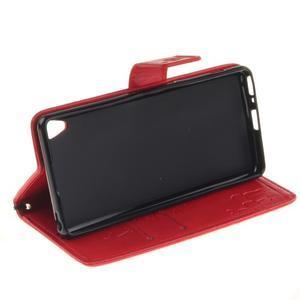 Dandely PU kožené pouzdro na mobil Sony Xperia XA - červené - 5