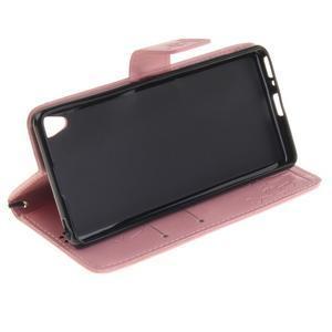 Dandely PU kožené pouzdro na mobil Sony Xperia XA - růžové - 5