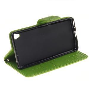 Dandely PU kožené pouzdro na mobil Sony Xperia XA - zelené - 5