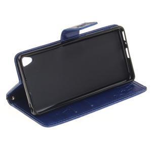 Dandely PU kožené pouzdro na mobil Sony Xperia XA - modré - 5