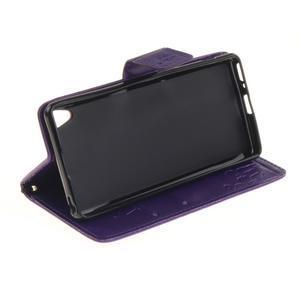 Dandely PU kožené pouzdro na mobil Sony Xperia XA - fialové - 5