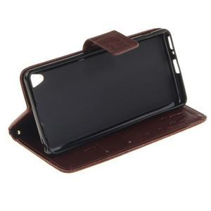 Dandely PU kožené pouzdro na mobil Sony Xperia XA - hnědé - 5