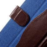 Jeansy PU kožené/textilní pouzdro na Sony Xperia XA - modré - 5/7