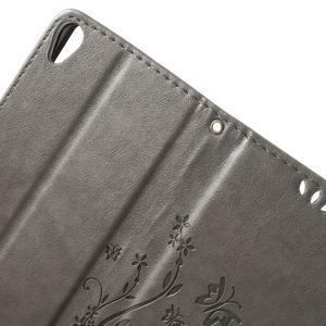 Butterfly pouzdro na mobil Sony Xperia XA - šedé - 5