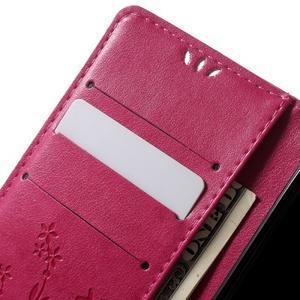 Butterfly pouzdro na mobil Sony Xperia XA - rose - 5